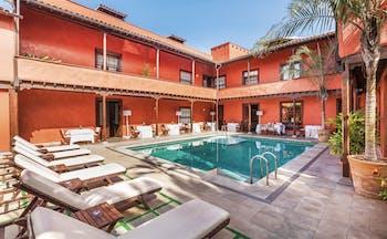 Hotel San Roque Tenerife pool sun loungers pool in courtyard