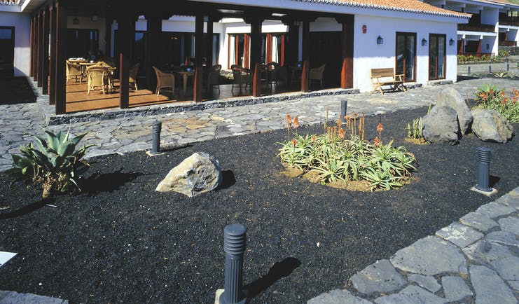 Parador de el Hierro Canary Islands exterior hotel building terrace patio