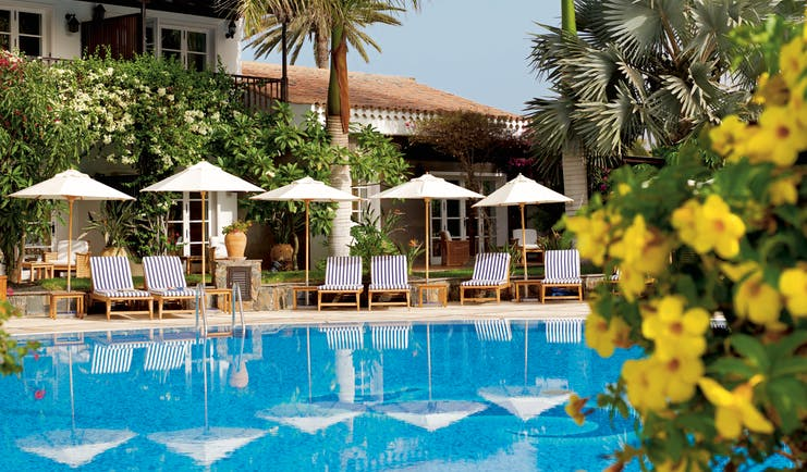 Seaside Grand Hotel Residencia Canary Islands exterior rear view of building from pool