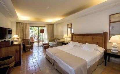 La Plantacion del Sur Tenerife double room bed lounge area terrace modern décor