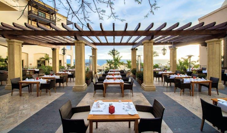 La Plantacion del Sur Tenerife terrace restaurant outdoor seating views over the sea