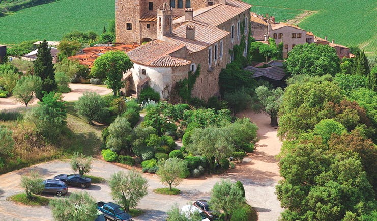Castell D'Emporda Eastern Spain castle exterior countryside surrounds