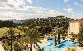 Denia Marriot La Sella Eastern Spain exterior pools palm trees hotel building fields