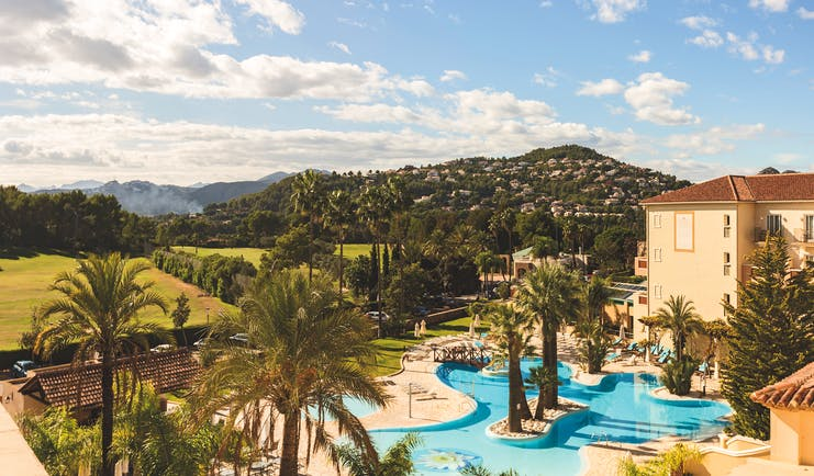 Denia Marriot La Sella Eastern Spain exterior pools palm trees hotel building fields