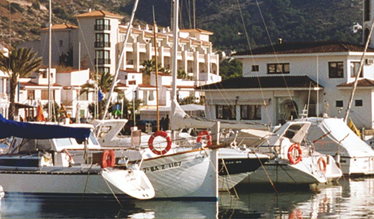 Hotel Estela Eastern Spain marina boats moored up