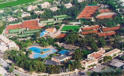La Manga Club Resort Eastern Spain aerial view of hotel sports complexes and swimming pools