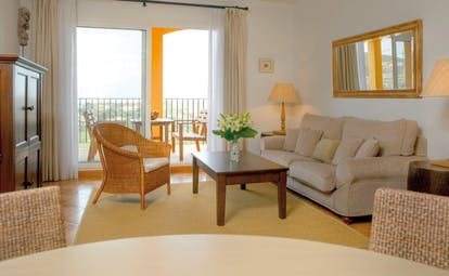 La Manga Club Resort Eastern Spain apartment living room with balcony seating area