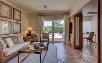 Mas de Torrent Catalonia pool suite lounge area modern décor