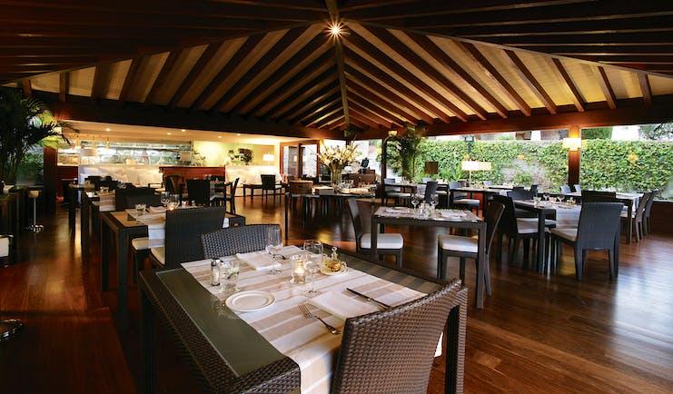 Mas de Torrent Catalonia restaurant indoor dining area modern décor
