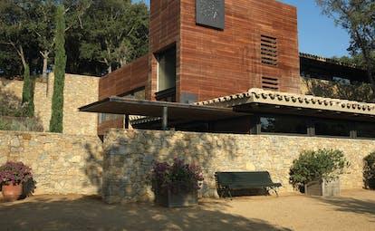 Mas de Torrent Catalonia spa exterior building wood and brick architecture