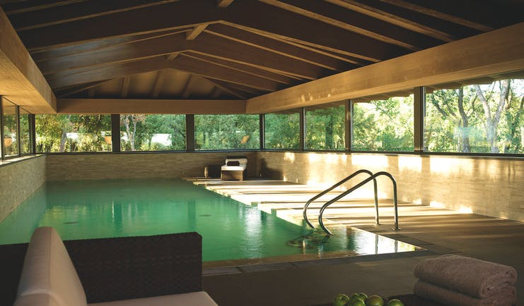Mas de Torrent Catalonia spa indoor pool sofa