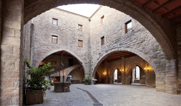 Parador de Cardona Catalonia courtyard medieval architecture