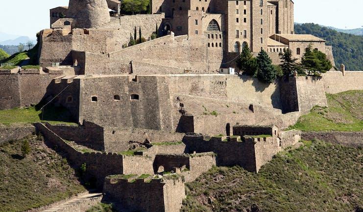 Parador de Cardona Catalonia exterior hotel large medieval castle
