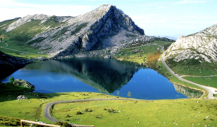 Lakes in the mountains of the Picos de Europa in Asturias