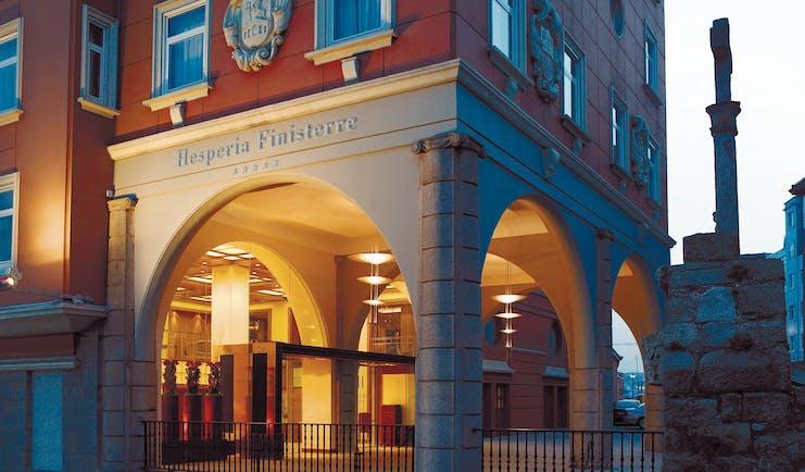 Hesperia Finisterre Green Spain entrance hotel building