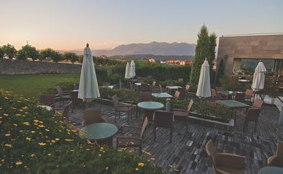 Palacio de Luces Green Spain outdoor dining terrace views of countryside