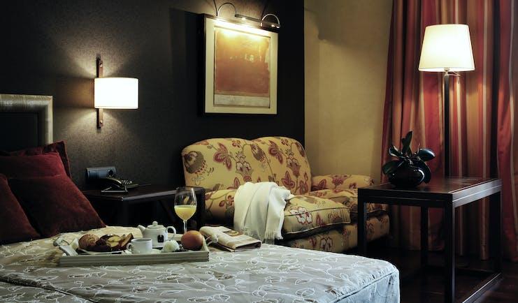 Palacio de Luces Green Spain suite bed sofa table modern décor