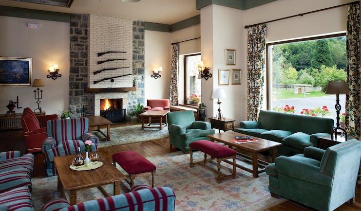 Parador de Fuente De Green Spain lounge indoor communal sitting area cosy décor open fire