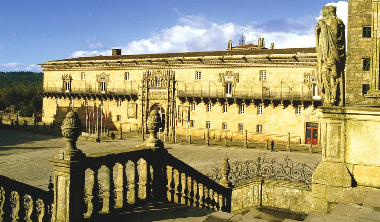 Parador de Santiago de Compostela Green Spain exterior impressive medieval architecture