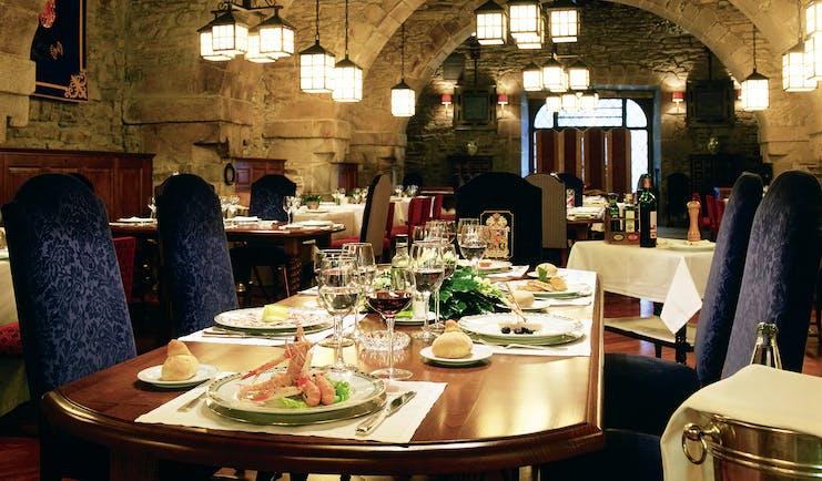 Parador de Santiago de Compostela Green Spain restaurant medieval architecture