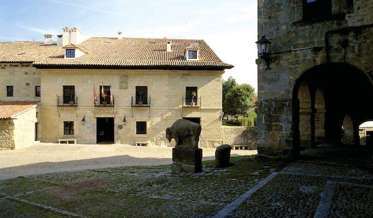 Parador de Santillana Gil Blas Green Spain exterior stone building patio