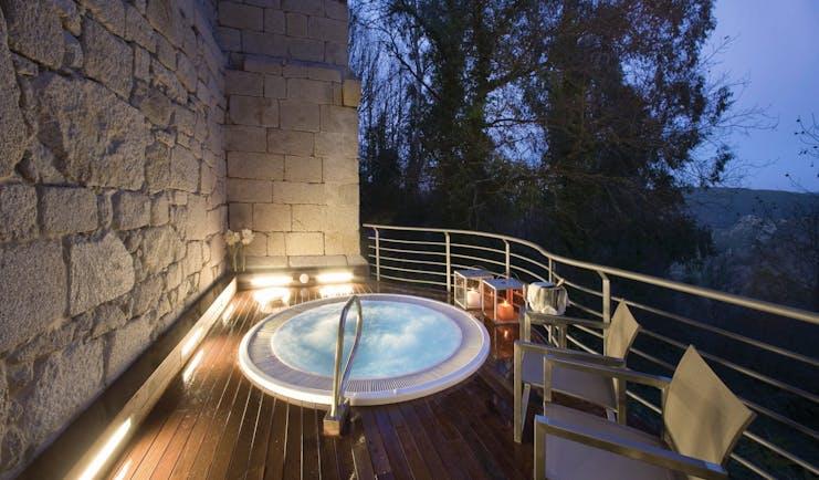 Parador de Santo Estevo Green Spain hot tub private terrace countryside views