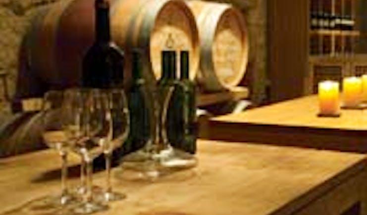Hacienda Zorita Heart of Spain barrels cellar wine glasses
