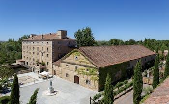Hacienda Zorita Heart of Spain exterior hotel building patio countryside surrounds