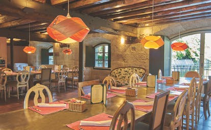 Hacienda Zorita Heart of Spain restaurant cosy décor original architectural features