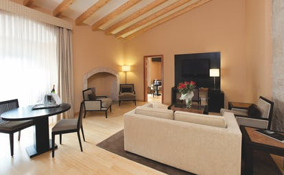 Hospes Palacio de Arenales Heart of Spain presidential suite lounge area modern décor