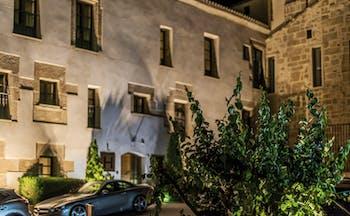 Hospes Palacio de San Esteban Heart of Spain exterior by night building plants