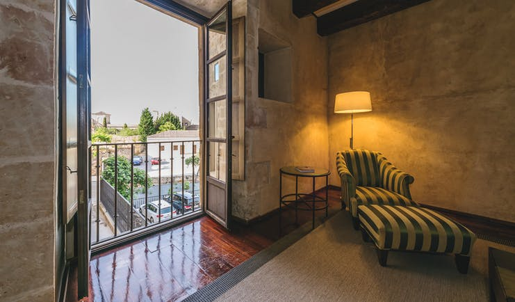 Hospes Palacio de San Esteban Heart of Spain junior suite seating area balcony