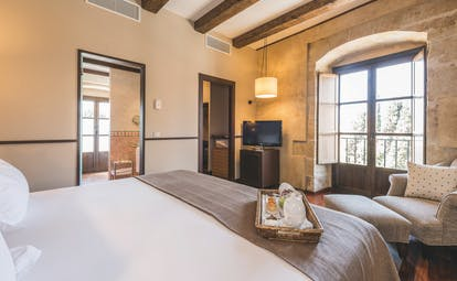 Hospes Palacio de San Esteban Heart of Spain suite bedroom modern décor original features