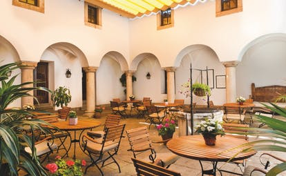Parador de Merida Heart of Spain courtyard outdoor seating area