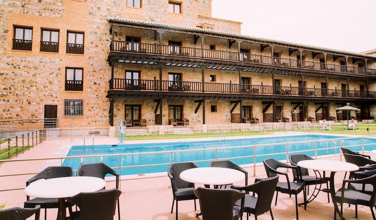 Parador de Toledo Heart of Spain exterior pool hotel building poolside