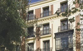 Hospes Madrid exterior view of hotel from the street