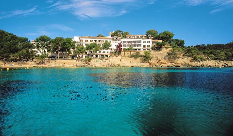 Cala Fornells Mallorca exterior hotel building beach sea