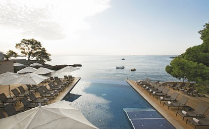 Hospes Maricel Mallorca shot of infinity pool overlooking sea