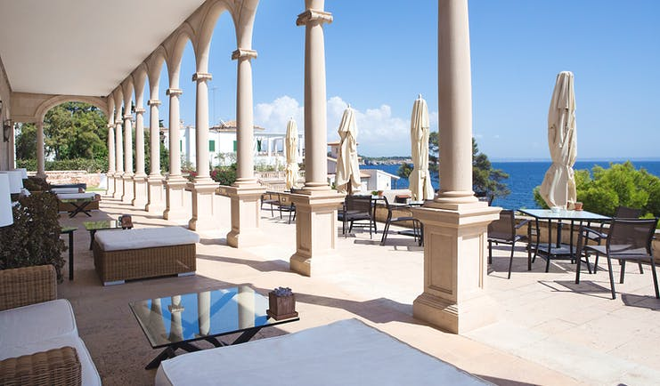 Hospes Maricel Mallorca terraces overlooking the sea outdoor seating