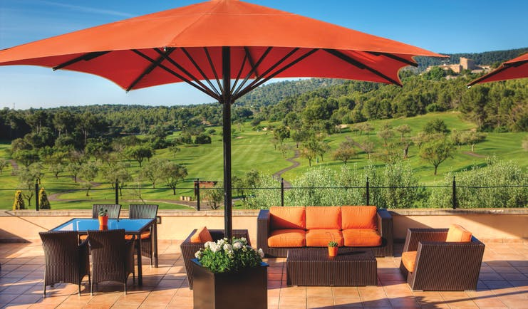 Sheraton Arabella Mallorca terrace outdoor seating area countryside views