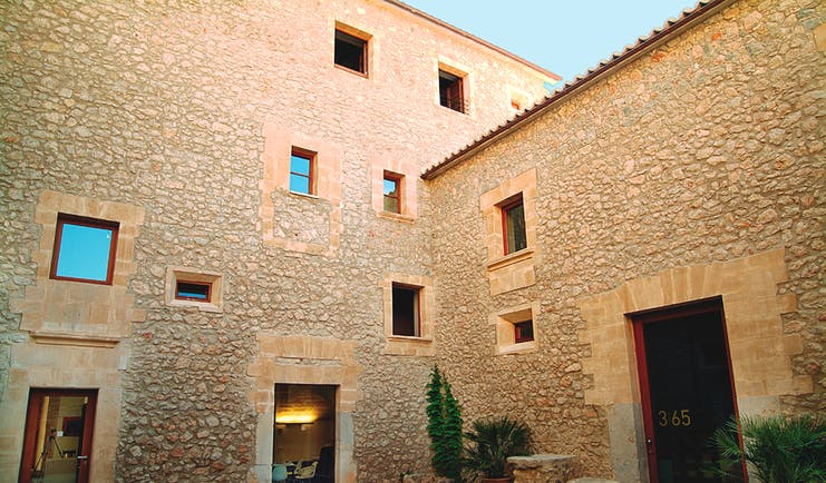 Son Brull Mallorca hotel exterior large stone building
