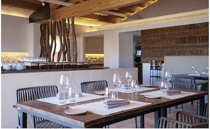 Torralbenc Menorca restaurant indoor dining area elegant décor