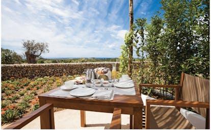 Torralbenc Menorca terrace breakfast countryside views