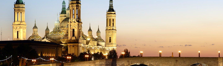 Spires of the Zaragoza basilica