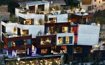 Hotel Viura Basque exterior distinctive industrial architecture