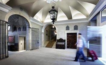 Palacio Guendulain Basque entrance iron gates vaulted ceiling