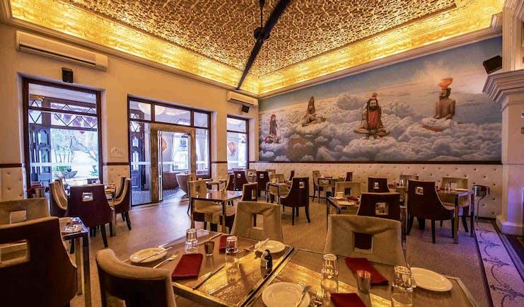 Casa Colombo Sri Lanka restaurant indoor dining area ornate décor