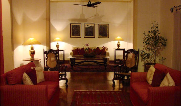 Havelock Place Bungalow Sri Lanka living room with sofas traditional decor