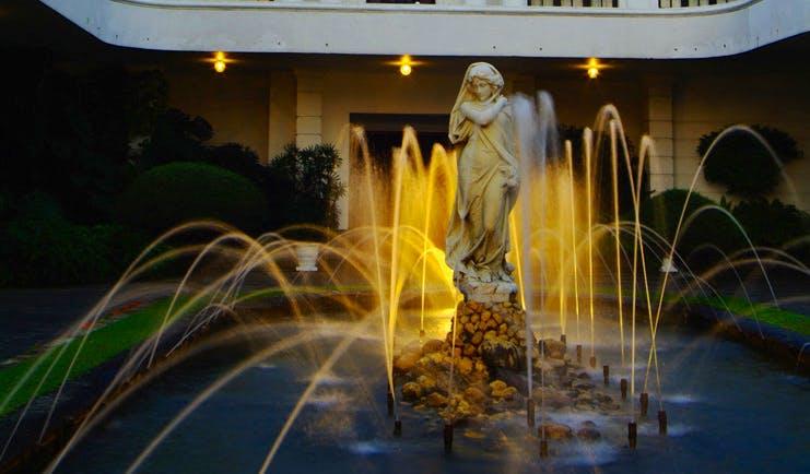 Mount Lavinia Hotel Sri Lanka courtyard fountain with statue of woman