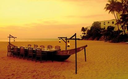 Mount Lavinia Hotel Sri Lanka Seafood Cove boat private dining on beach on boat